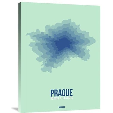 Naxart 'Prague Radiant Map 4' Graphic Art Print on Canvas; 24'' H x 18'' W x 1.5'' D
