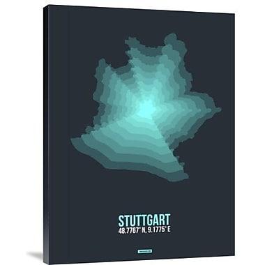 Naxart 'Stuttgart Radiant Map 1' Graphic Art Print on Canvas; 32'' H x 24'' W x 1.5'' D
