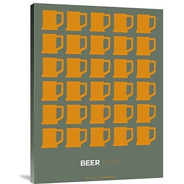 Naxart 'Yellow Beer Mugs' Graphic Art Print on Canvas; 24'' H x 18'' W x 1.5'' D