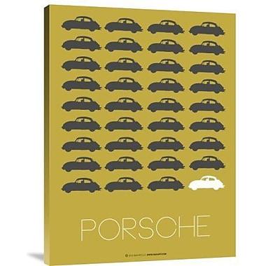 Naxart 'Porsche Gray' Graphic Art Print on Canvas; 24'' H x 18'' W x 1.5'' D