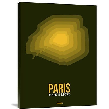 Naxart 'Paris Radiant Map 2' Graphic Art Print on Canvas; 40'' H x 30'' W x 1.5'' D
