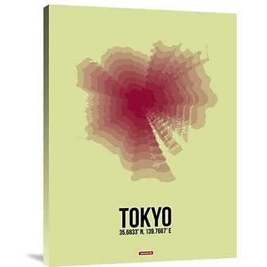 Naxart 'Tokyo Radiant Map 1' Graphic Art Print on Canvas; 24'' H x 18'' W x 1.5'' D