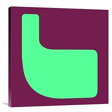 Naxart 'Letter L Green' Graphic Art Print on Canvas; 40'' H x 40'' W x 1.5'' D