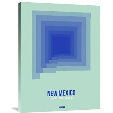Naxart 'Mexico Radiant Map 1' Graphic Art Print on Canvas; 24'' H x 18'' W x 1.5'' D