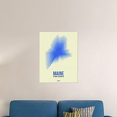 Naxart 'Maine Radiant Map 1' Graphic Art Print on Canvas; 32'' H x 24'' W x 1.5'' D