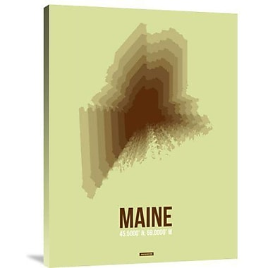 Naxart 'Maine Radiant Map 2' Graphic Art Print on Canvas; 32'' H x 24'' W x 1.5'' D