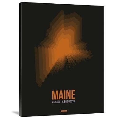 Naxart 'Maine Radiant Map 5' Graphic Art Print on Canvas; 16'' H x 12'' W x 1.5'' D