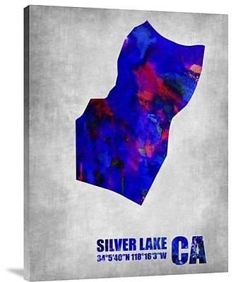 Naxart 'Silver Lake California' Graphic Art Print on Canvas; 32'' H x 24'' W x 1.5'' D