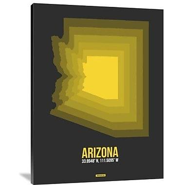 Naxart 'Arizona Radiant Map 6' Graphic Art Print on Canvas; 32'' H x 24'' W x 1.5'' D