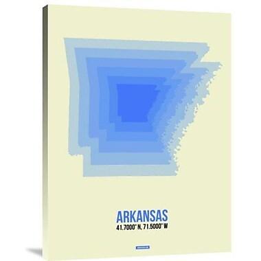 Naxart 'Arkansas Radiant Map 2' Graphic Art Print on Canvas; 32'' H x 24'' W x 1.5'' D