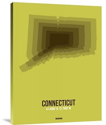 Naxart 'Connecticut Radiant Map 2' Graphic Art Print on Canvas; 32'' H x 24'' W x 1.5'' D
