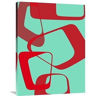 Naxart 'Abstract Rings 4' Graphic Art Print on Canvas; 40'' H x 30'' W x 1.5'' D