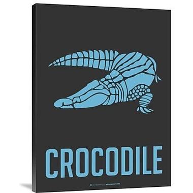 Naxart 'Crocodile Blue' Graphic Art Print on Canvas; 24'' H x 18'' W x 1.5'' D