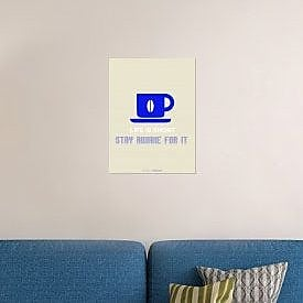 Naxart 'Coffee Blue' Graphic Art Print on Canvas; 24'' H x 18'' W x 1.5'' D