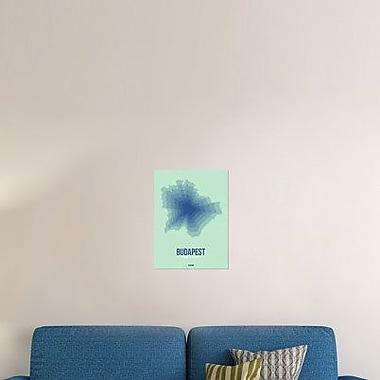 Naxart 'Budapest Radiant Map 5' Graphic Art Print on Canvas; 32'' H x 24'' W x 1.5'' D