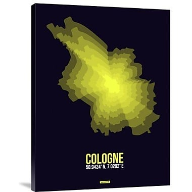 Naxart 'Cologne Radiant Map 3' Graphic Art Print on Canvas; 24'' H x 18'' W x 1.5'' D