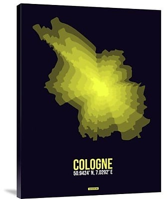 Naxart 'Cologne Radiant Map 3' Graphic Art Print on Canvas; 16'' H x 12'' W x 1.5'' D
