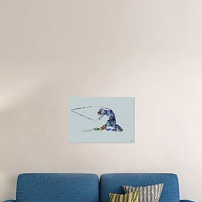 Naxart 'Dancer Watercolor 4' Graphic Art Print on Canvas; 15'' H x 22'' W x 1.5'' D