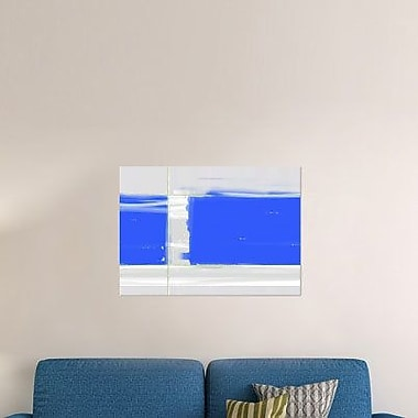 Naxart 'Abstract Blue' Graphic Art Print on Canvas; 16'' H x 22'' W x 1.5'' D