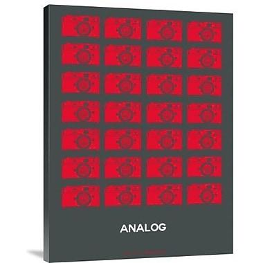 Naxart 'Analog Red Camera' Graphic Art Print on Canvas; 16'' H x 12'' W x 1.5'' D