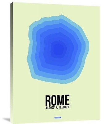Naxart 'Rome Radiant Map 1' Graphic Art Print on Canvas; 40'' H x 30'' W x 1.5'' D