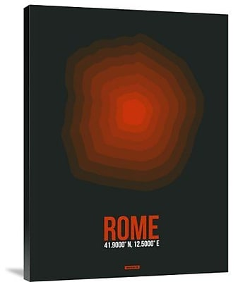 Naxart 'Rome Radiant Map 2' Graphic Art Print on Canvas; 16'' H x 12'' W x 1.5'' D