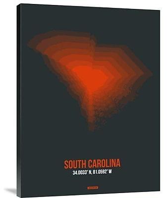 Naxart 'South Carolina Radiant Map 4' Graphic Art Print on Canvas; 24'' H x 18'' W x 1.5'' D