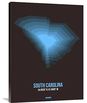 Naxart 'South Carolina Radiant Map 5' Graphic Art Print on Canvas; 24'' H x 18'' W x 1.5'' D