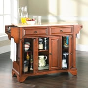 Darby Home Co Abbate Kitchen Island w/ Wood Top; Classic Cherry