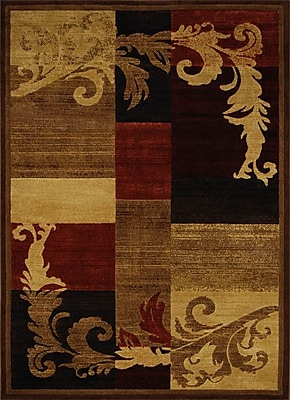 Fleur De Lis Living Cheyney Light Brown/Red Area Rug; 3'3'' x 5'2'' WYF078280562284