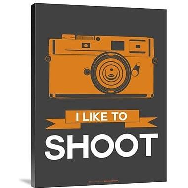 Naxart 'I Like to Shoot 1' Graphic Art Print on Canvas; 16'' H x 12'' W x 1.5'' D