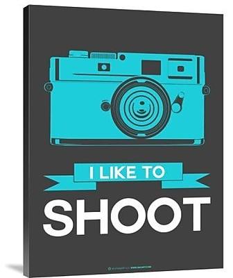 Naxart 'I Like to Shoot 2' Graphic Art Print on Canvas; 24'' H x 18'' W x 1.5'' D