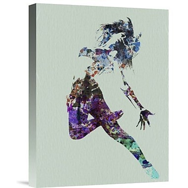 Naxart 'Dancer Watercolor' Graphic Art Print on Canvas; 40'' H x 30'' W x 1.5'' D