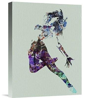 Naxart 'Dancer Watercolor' Graphic Art Print on Canvas; 24'' H x 18'' W x 1.5'' D