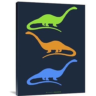 Naxart 'Dinosaur Family 25' Graphic Art Print on Canvas; 16'' H x 12'' W x 1.5'' D