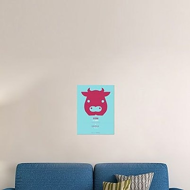 Naxart 'Red Cow Multilingual' Graphic Art Print on Canvas; 24'' H x 18'' W x 1.5'' D