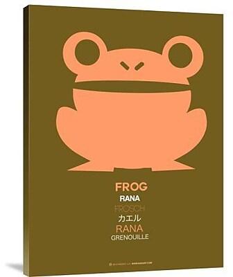 Naxart 'Pink Frog Multilingual' Graphic Art Print on Canvas; 40'' H x 30'' W x 1.5'' D