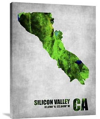 Naxart 'Silicon Valley California' Graphic Art Print on Canvas; 32'' H x 24'' W x 1.5'' D