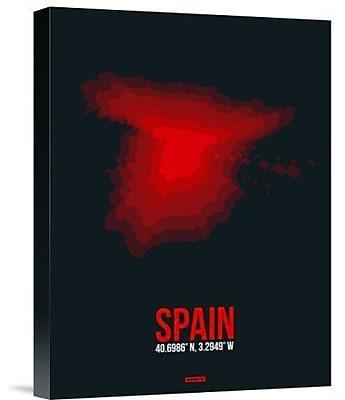 Naxart 'Spain Radiant Map 1' Graphic Art Print on Canvas; 32'' H x 24'' W x 1.5'' D