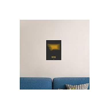 Naxart 'Montana Radiant Map 4' Graphic Art Print on Canvas; 16'' H x 12'' W x 1.5'' D