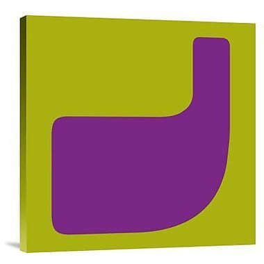 Naxart 'Letter J Purple' Graphic Art Print on Canvas; 30'' H x 30'' W x 1.5'' D
