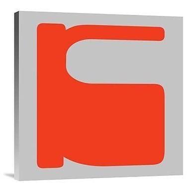 Naxart 'Letter K Orange' Graphic Art Print on Canvas; 30'' H x 30'' W x 1.5'' D