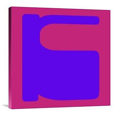 Naxart 'Letter K Blue' Graphic Art Print on Canvas; 36'' H x 36'' W x 1.5'' D
