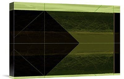Naxart 'Abstract Green Cone' Graphic Art Print on Canvas; 21'' H x 30'' W x 1.5'' D