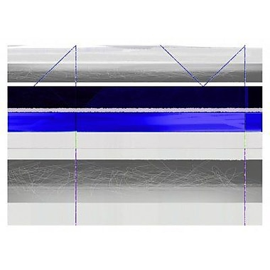 Naxart 'Abstract Blue and White Paralells' Graphic Art Print on Canvas; 16'' H x 22'' W x 1.5'' D