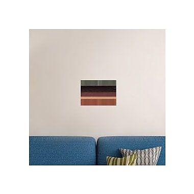 Naxart 'Abstract Brown Field' Graphic Art Print on Canvas; 16'' H x 22'' W x 1.5'' D