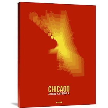 Naxart 'Chicago Radiant Map 3' Graphic Art Print on Canvas; 40'' H x 30'' W x 1.5'' D