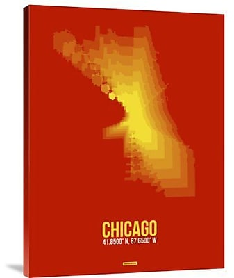 Naxart 'Chicago Radiant Map 3' Graphic Art Print on Canvas; 40'' H x 30'' W x 1.5'' D