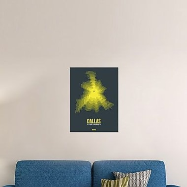 Naxart 'Dallas Radiant Map 1' Graphic Art Print on Canvas; 32'' H x 24'' W x 1.5'' D