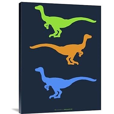 Naxart 'Dinosaur Family 12' Graphic Art Print on Canvas; 16'' H x 12'' W x 1.5'' D